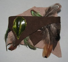 Leather and feather armband