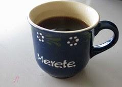 new coffee cup :: kaffekopp fra sønnen en tidlig juni-morgen, - hurra!