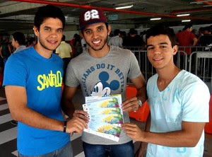 Grupo amigos ingressos Copa (Foto: Pedro Costa)