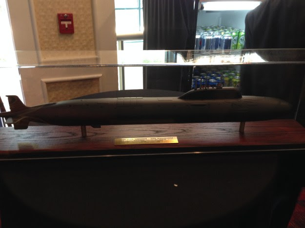 Model of Russian submarine Severodvinsk built for NAVSEA. US Naval Institute Photo
