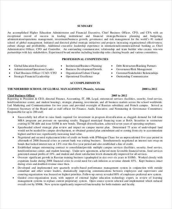 15 Professional Education Resume