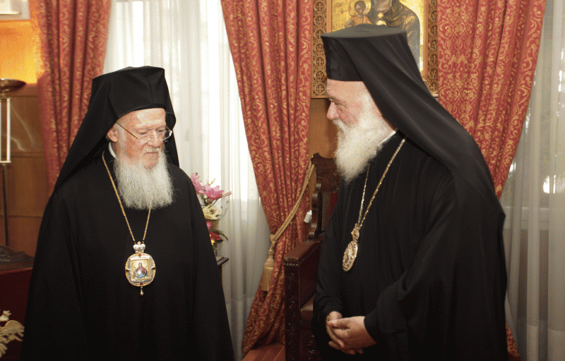 Αποτέλεσμα εικόνας για Εισπήδηση Πατριάρχου Βαρθολομαίου στην Εκκλησία της Ελλάδος