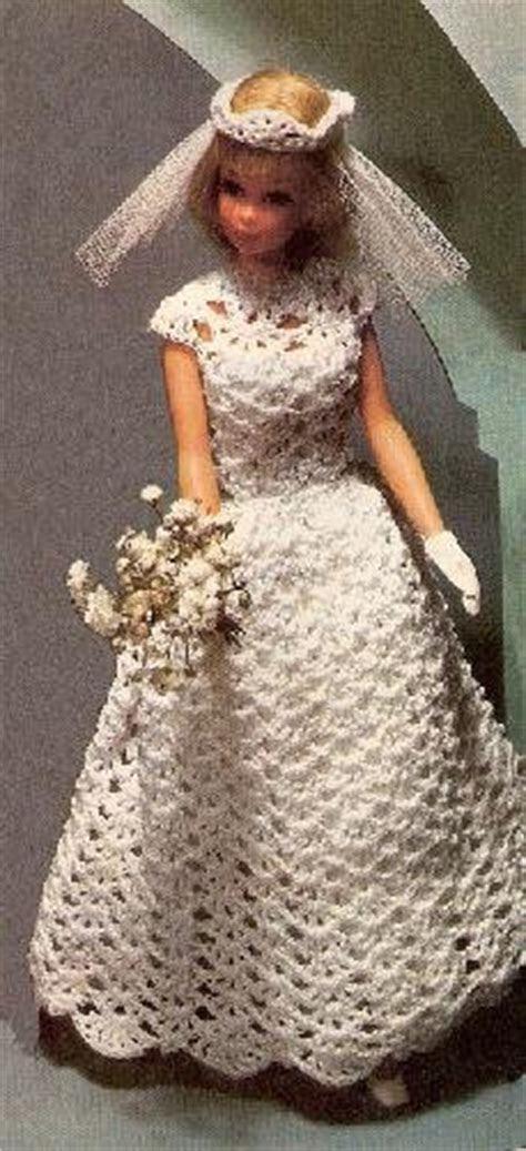 Wedding Crochet Pattern Dress Bridal Barbie