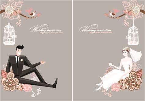 Stylish Wedding card design elements 01   Vector Card free