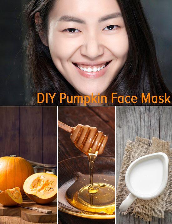 Anında parlak cilt için A 3-madde kabak yüz maskesi.