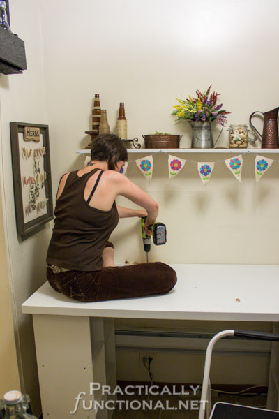 Make Your Own Built-In Craft Desk! | Practically Functional