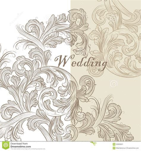 Beautiful Wedding Invitation Card For Design Stock Vector