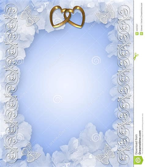 Wedding Invitation Floral Design Royalty Free Stock