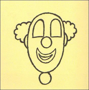 clown gesicht zeichnen