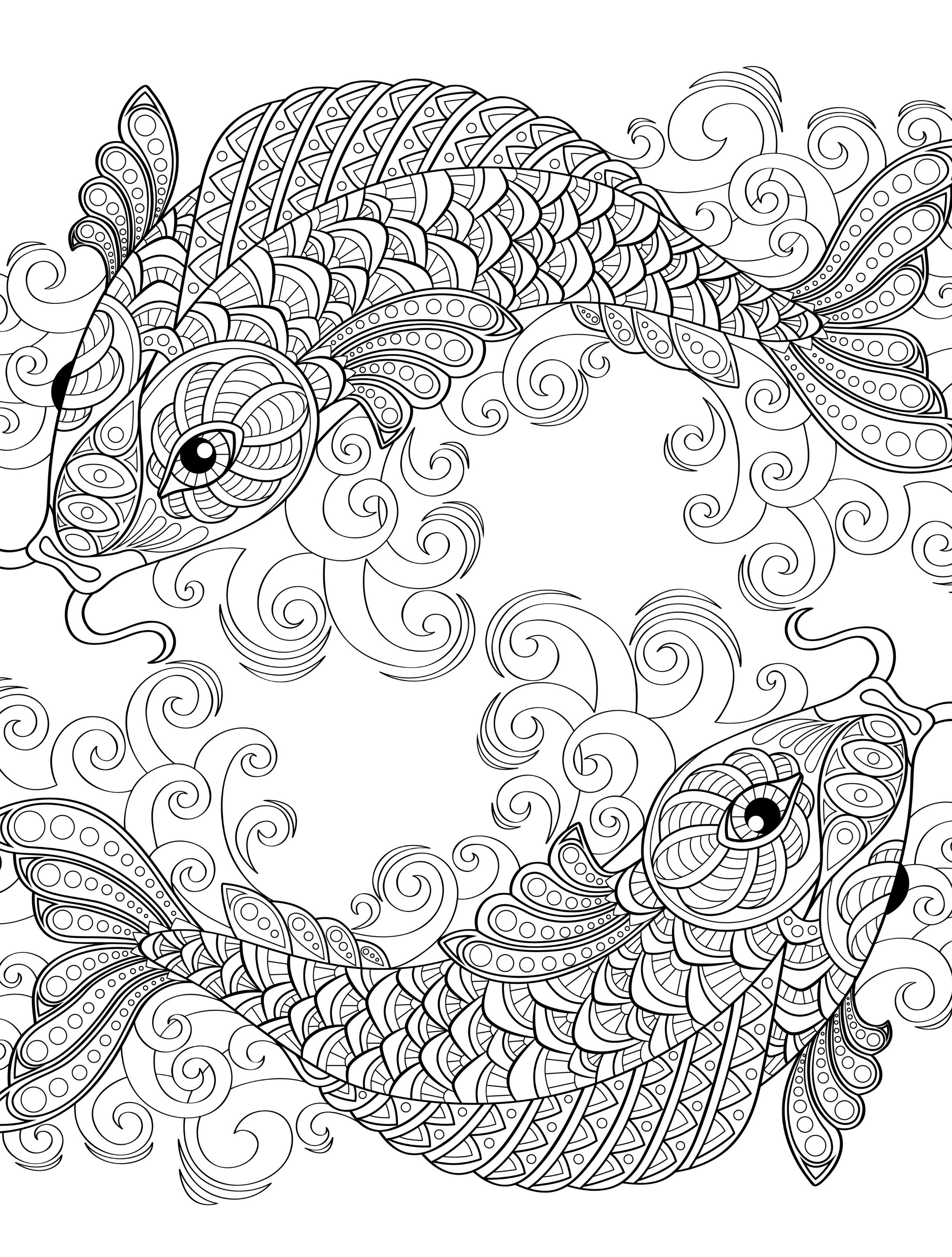 Koi Fish Coloring Pages  Coloring Home