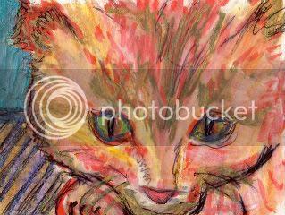 art card, cat, animal, abstract, original, kitten