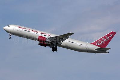 Omni Air International-OAI Boeing 767-33A ER N378AX (msn 28147) LHR (Antony J. Best). Image: 909315.