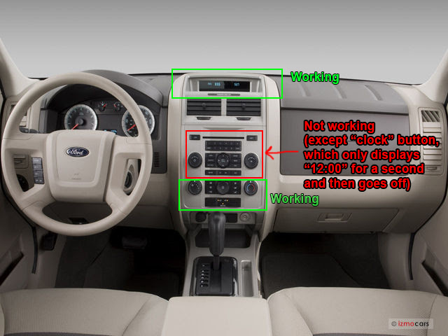 2008 Ford Escape Xlt No Power To Radio Doesnt Seem To Be
