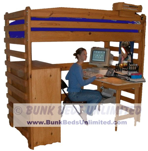 Plans To Build Loft Bed With Desk Woodworking Techonlogy Review