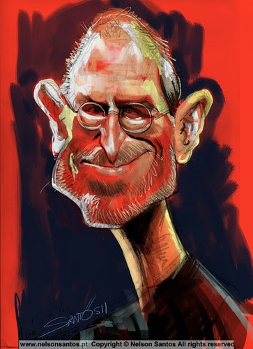 Steve_Jobs_Ipad_Caricature [Copyright Nelson Santos] by caricaturas