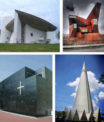 Ugly modern architecture Churches of Hell