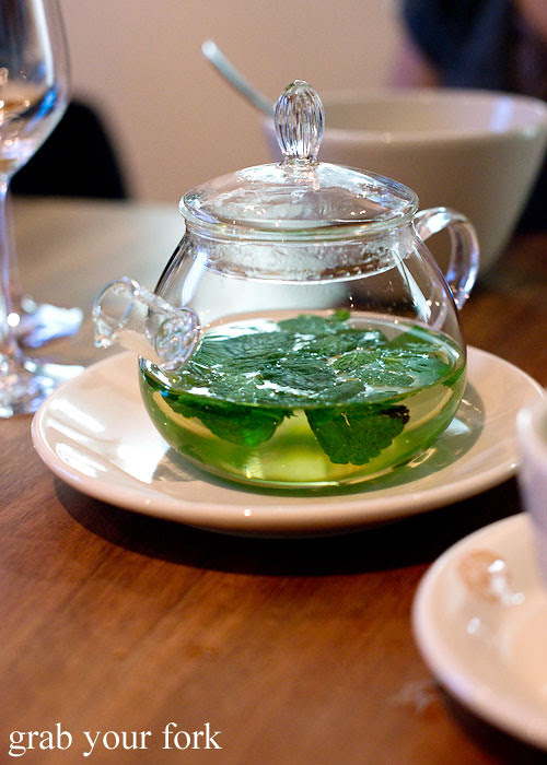 Fresh peppermint tea at Sixpenny Stanmore