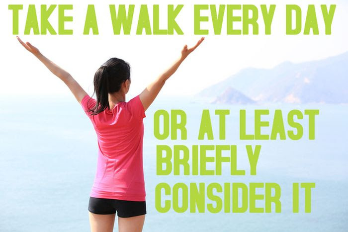 Take a Walk Every Day, or at least briefly consider it