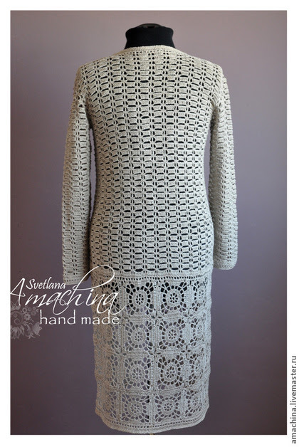 "Outer clothing handmade.  Summer coat crochet ""CITY"".  Svetlana Amakhina Lacy fantasies.  Arts and crafts fair.  Coat crochet"