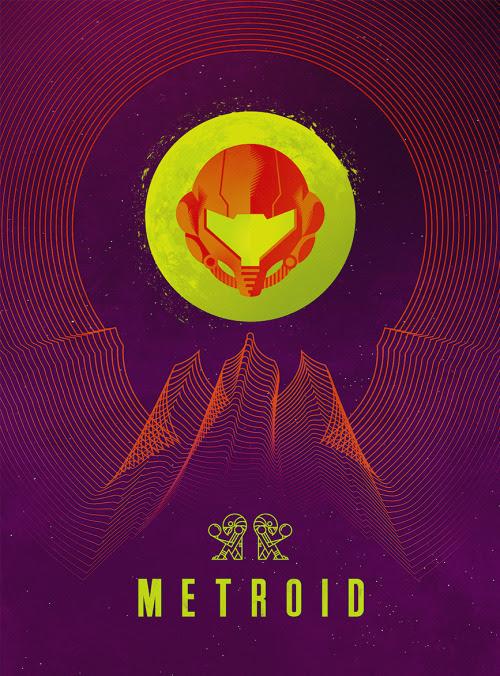 Retro Sci-fi Metroid Poster byJeff Langevin