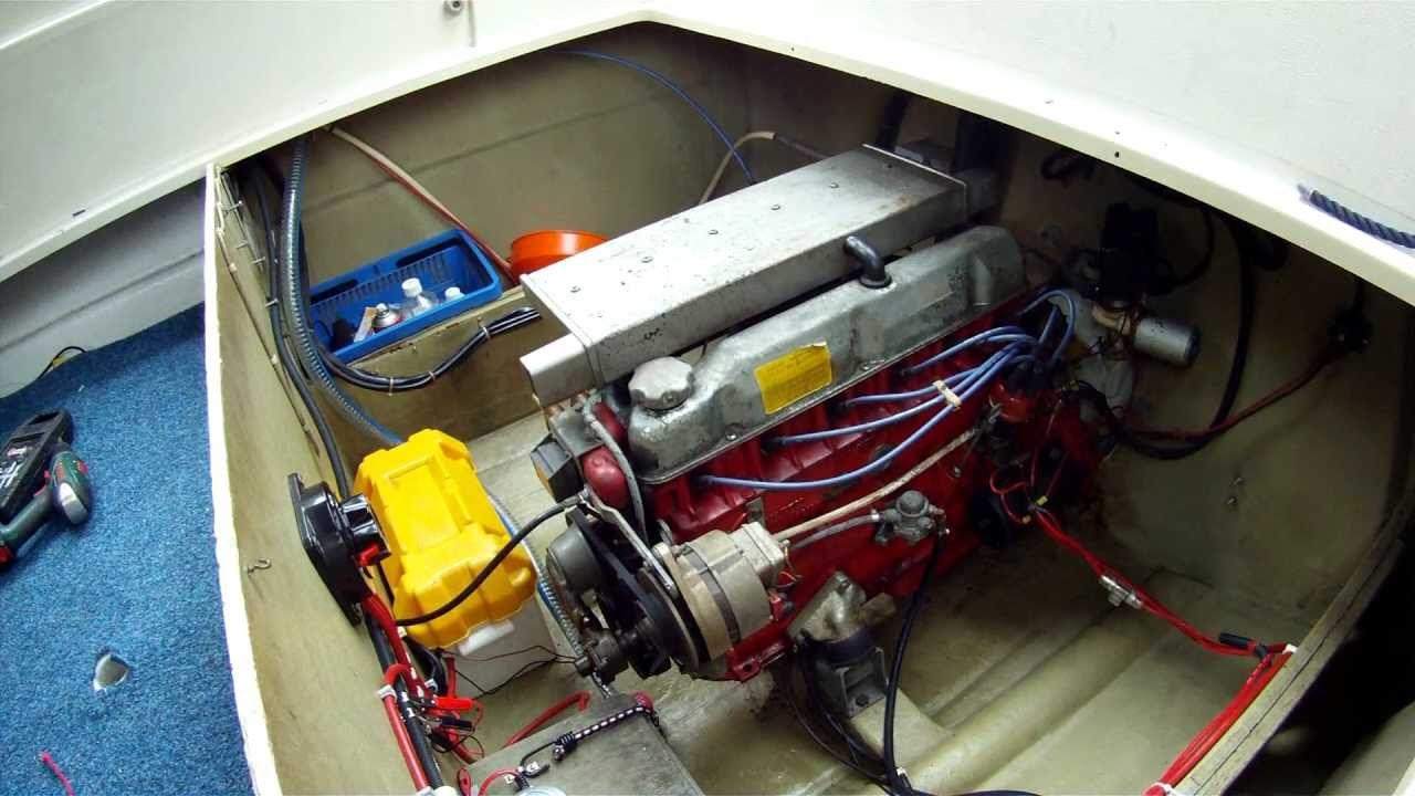 volvo penta b30 aq170 engine start  sound  youtube