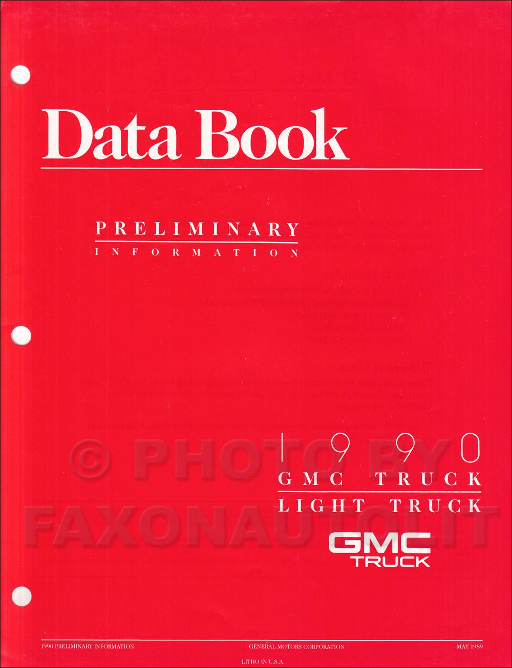 1990 GMC C/K Sierra Pickup Wiring Diagram Manual 1500 2500 ...
