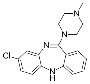 2D structure of atypical antipsychotic clozapine