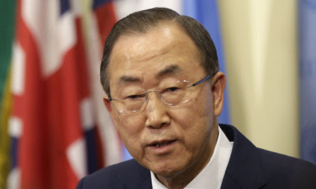 UN general secretary Ban Ki-moon believes leaders should have been involved at an earlier stage in the 2009 climate change talks. (Credit:: Seth Wenig/AP)