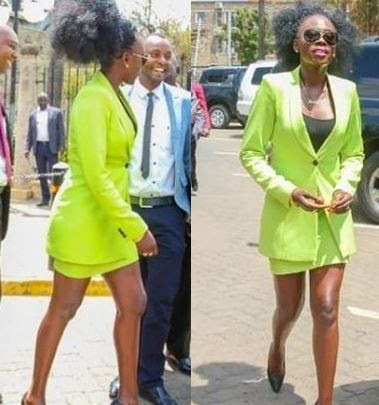 Kenyan singer ordered 'to cover her legs' before addressing parliament after showing up in a mini skirt (Photos)