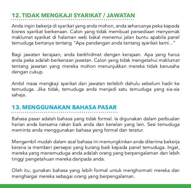 Jawapan Temuduga Dalam Bahasa Melayu - Kota Joglo