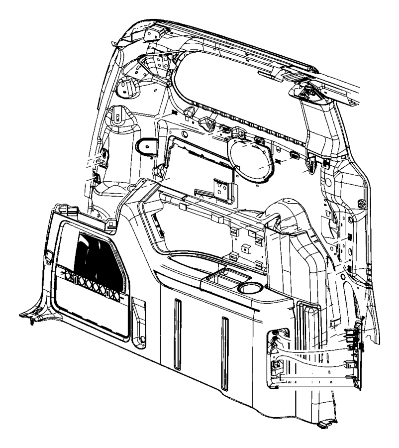 2008 Chrysler Town And Country Sliding Door Parts Diagram