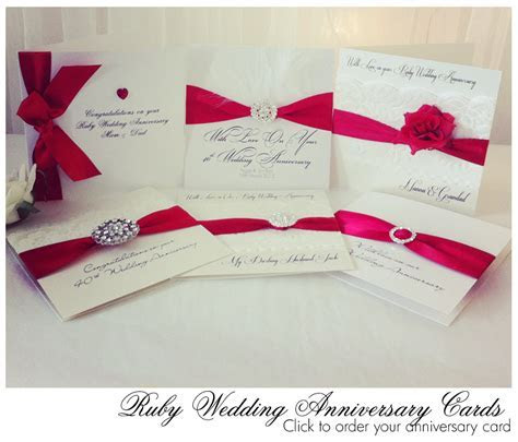 New ruby red ribbon in for Our Luxury Ruby Anniversary