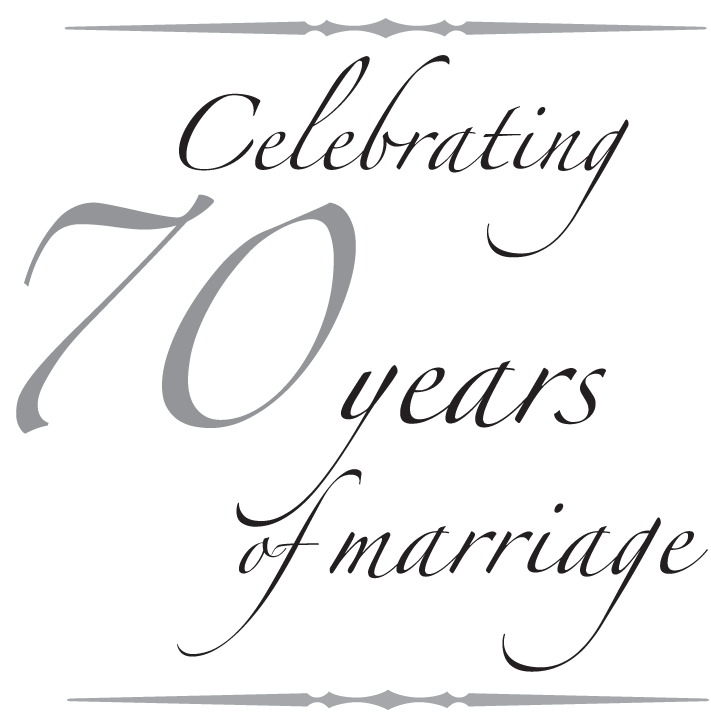 Lloyd And Annabeths 70th Wedding Anniversary Fm Light Sons