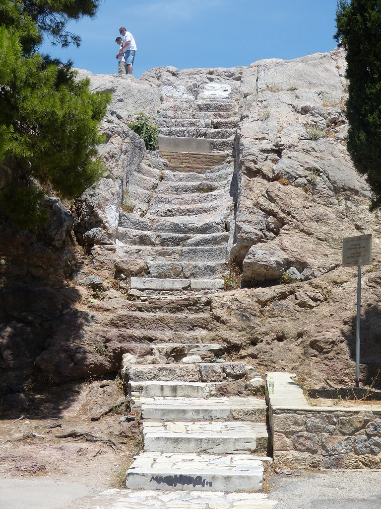 Stairs to Aeropagus Hill, Athens