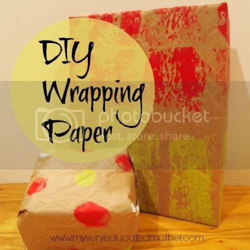 #DIY #wrappingpaper #kidscraft #Christmas #greencrafting
