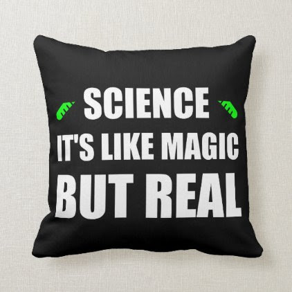 Science Like Magic But Real Throw Pillow