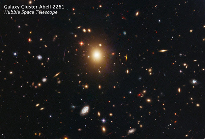 Hubble image of Abell 2261