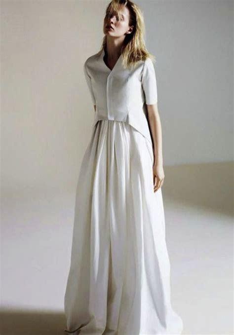 Shirtwaist Wedding Dresses Are Trending Now   crazyforus