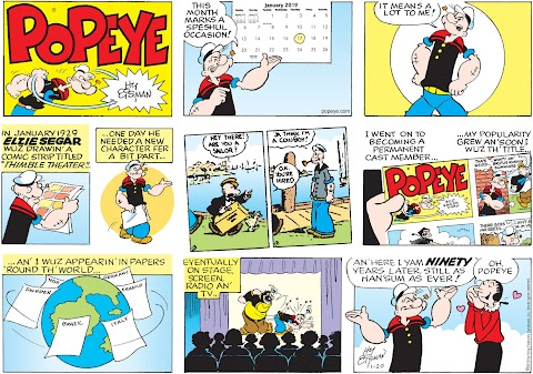 Popeye The Sailor Man Comic Strip