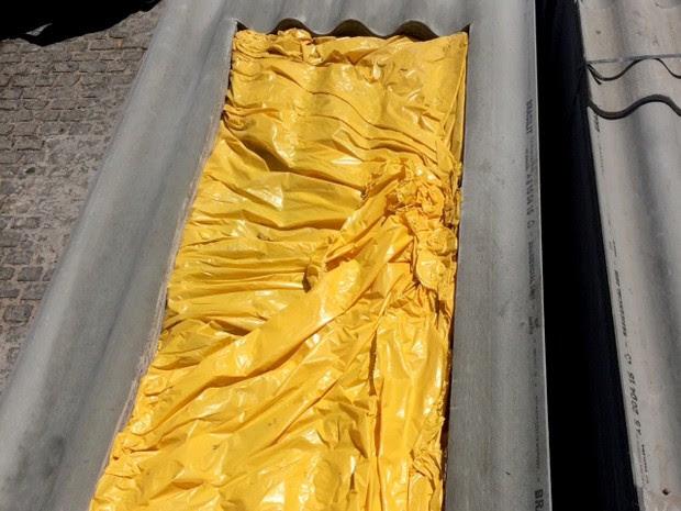 Maconha estava escondida entre telhas de amianto (Foto: Divulgação/ Sinpef-RN)