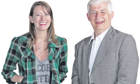 Proms director Roger Wright with writer and rock'n'roller Laura Barton