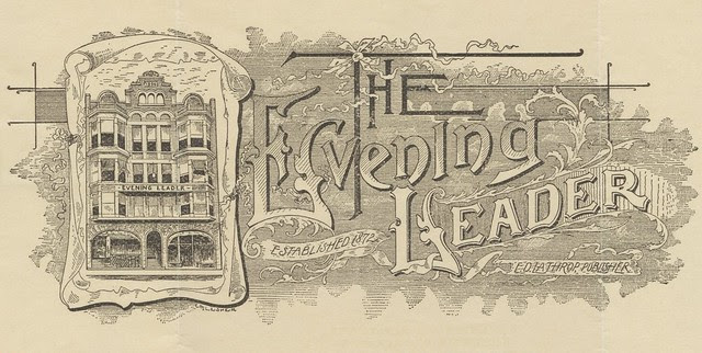 ornate 1908 local Pennsylvania newspaper business invoice