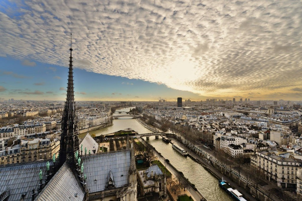 photo vu du ciel paris