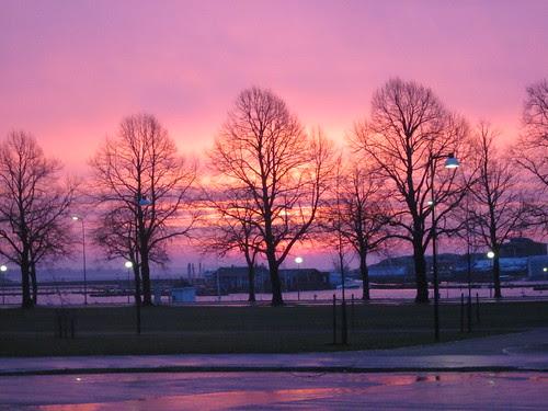 Kaivopuiston ranta varhain aamulla by Anna Amnell