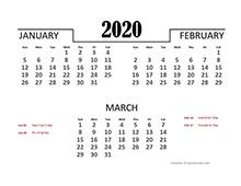 Excel Annual Leave Calendar 2020