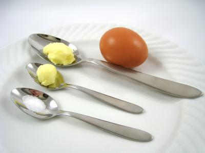 Photo : équivalences en grammes de divers termes culinaires