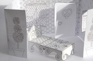 Una linda casita para imprimir y pintar.