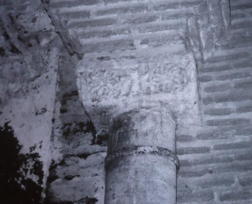 Cimacio visigótico descubierto en 1975 en la Iglesia de San Andrés