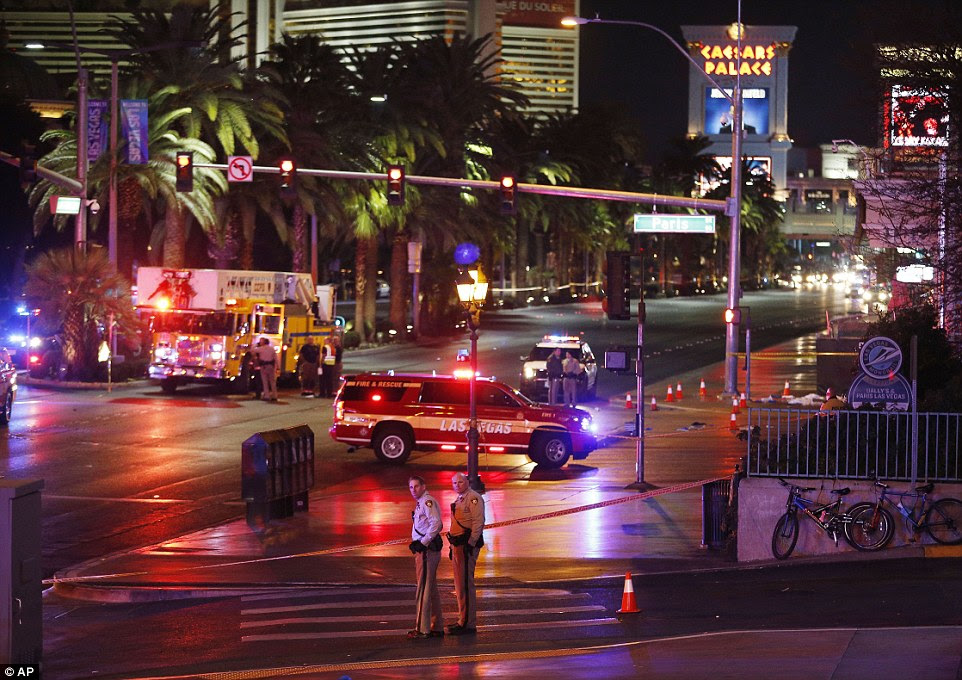 The crash happened in front of the Paris Hotel & Casino and Planet Hollywood, where the 2015 Miss Universe beauty pageant was held