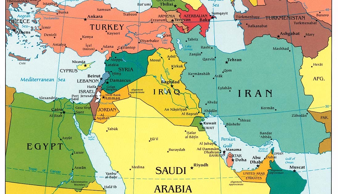 map of middle east Map of the World Map